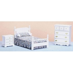 Bedroom  Set/3  White  Cb