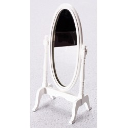 Cheval Mirror/white/cb
