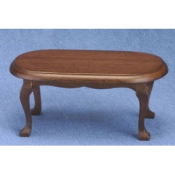Walnut Oval Coffee Table