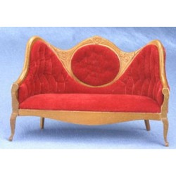 Victorian Mirrorback  Sofa  Red