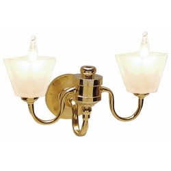 Dbl.frostd Sq.wall Sconce