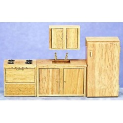 Oak Appliance Set  4Pc