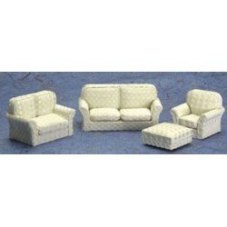 Living Room Set, 4pc, Beige