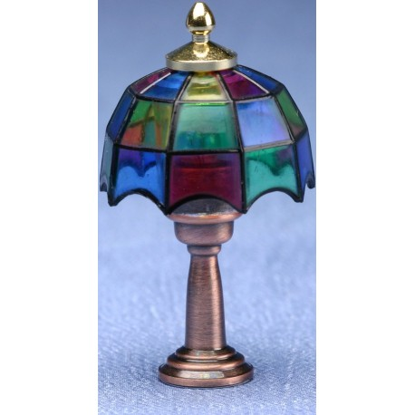 Tiffany table lamp 12v dollhouse miniature lamps for 12v table lamps for boats