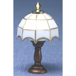 White Tiffany Table Lamp