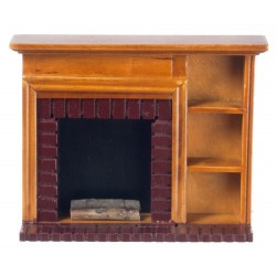 Fireplace w/shelves/waln