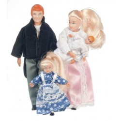 4pc Victorian Doll Family/blon