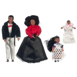 4pc Black Victorian Doll Fam.