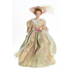 Victorian Lady In Beige Gown