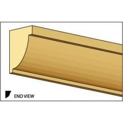 Crown Molding, Small Cornice, 1/4 W x 24 L