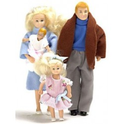 Modern Doll Family  Blonde  4Pc