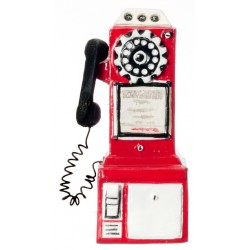 1950's Pay Phone/red