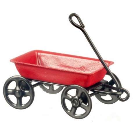 1/2inch Red Metal Wagon