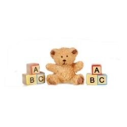 Polyresin Bear/abc Blocks
