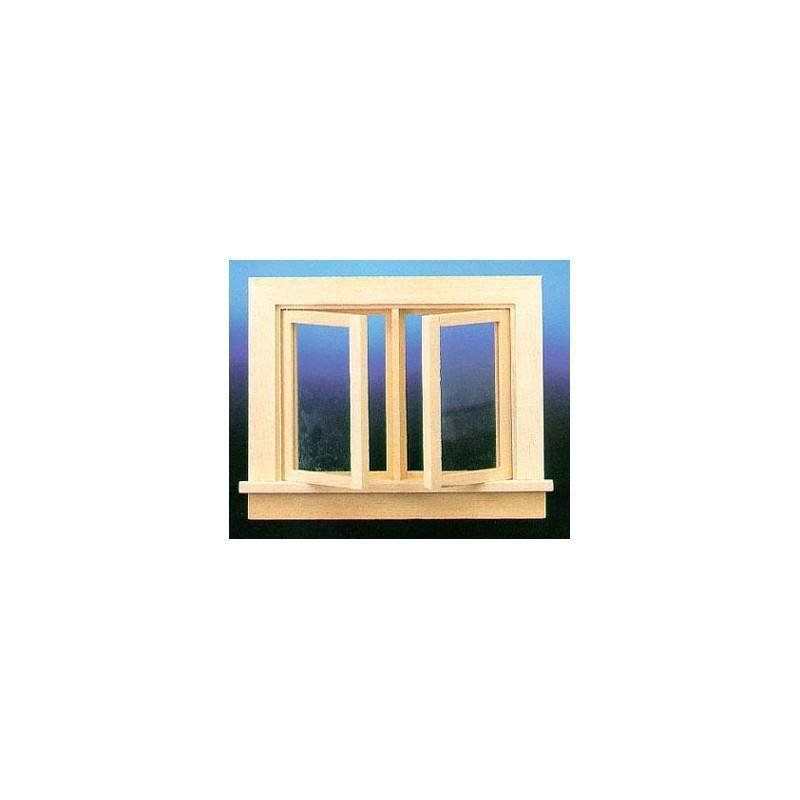 Double Swing Window : Double swing out window with pane dollhouse windows