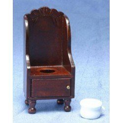 Victorian Potty Chair w/pot, Walnut