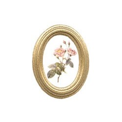 Framed Roses in Oval Frame