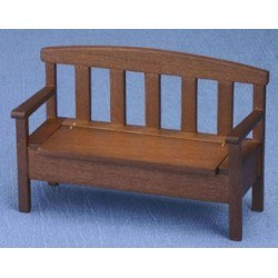 Garden Bench in Walnut