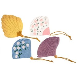 Assorted Fans/set/4
