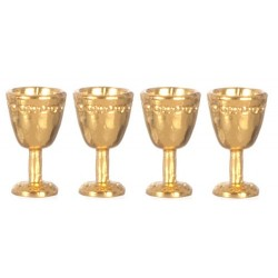 Antique Gold Goblets/4