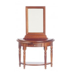 Hall Table/mirror/walnt