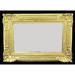 Gold Rectangle Ornate Mirror