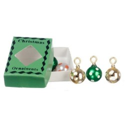 Xmas Ornaments In Grn.box