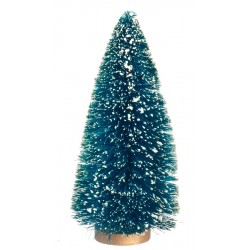 6in hemp tree wsnow - Dollhouse Christmas Decorations