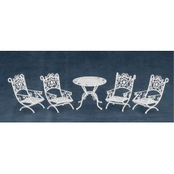 Patio Set/5/white/cb