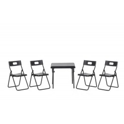 Folding Table/4 Chairs/bl