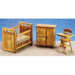 Nursery Set  3Pc  Oak