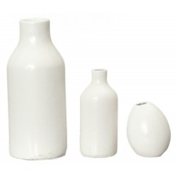 Resin White Vases/3pcs