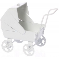 Baby Carriage/pastel Wht