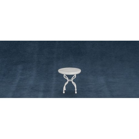 Round Marble Top Wh.table