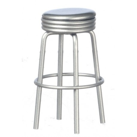 1950's Style Silver Stool