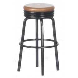 1950's Stool/black/oak