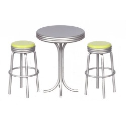 Tall Table w/2 Stools/grn
