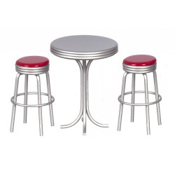 Tall Table w/2 Stools/red