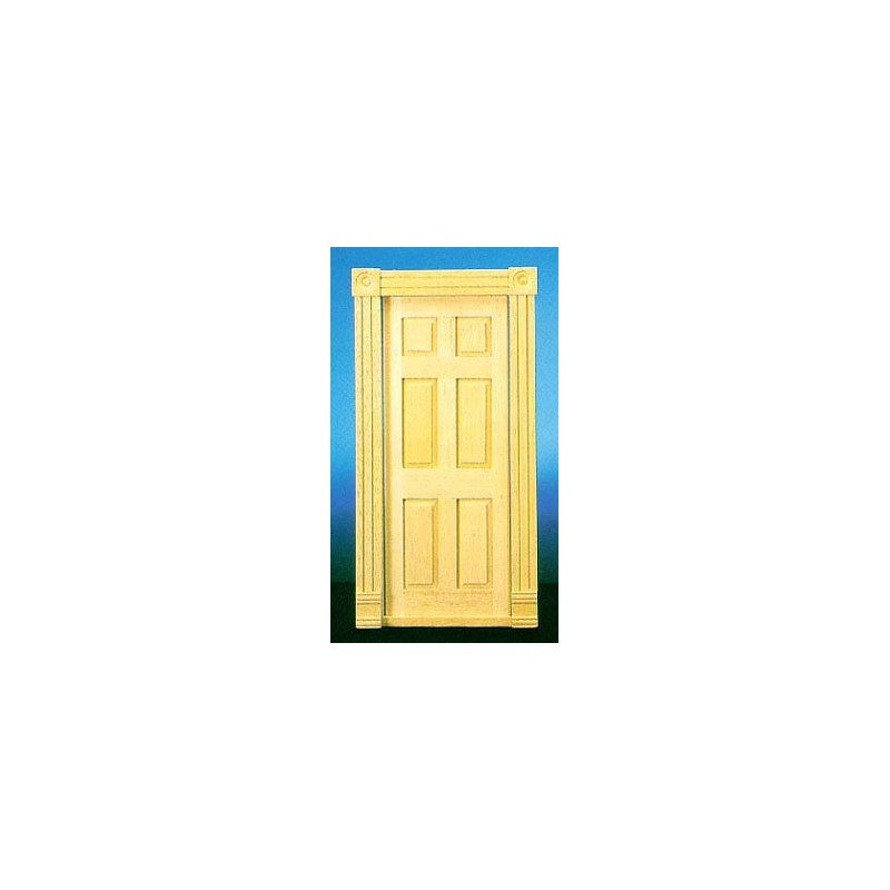 Trad 6 panel interior door dollhouse doors superior for 6 panel interior doors