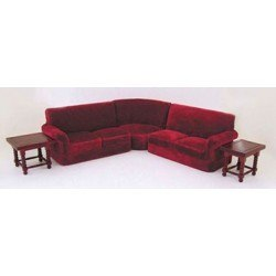 Corner couch Set (5pcs) in Red