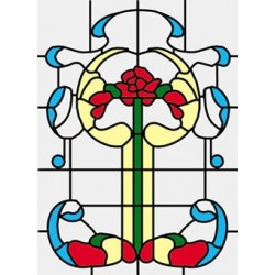 SIM. STAINED GLASS FITS CLA76018/HW6018