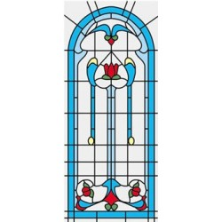 SIM. STAINED GLASS FITS CLA75042/HW5042