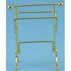 "Brass Towel Rack, 5 1/2"" High"