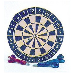 Dart Board in Blue