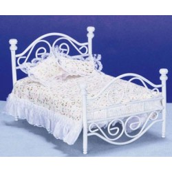 White Brass Bed