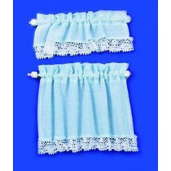 Blue Miniature Curtains