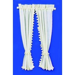Miniature Ecru Country Curtains