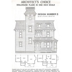 Dollhouse Plan 3, One inch Scale