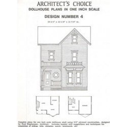 Dollhouse Plan 4, One inch Scale