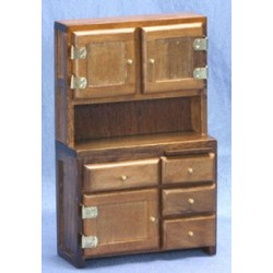 Walnut Cupboard Hutch